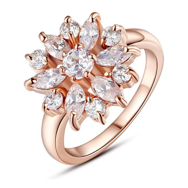 3 Kolory Złoty Kolor Palec Serdeczny dla Kobiet z AAA Multicolor Cubic Zircon Wedding Berloque #6 7 8 9 HMR030