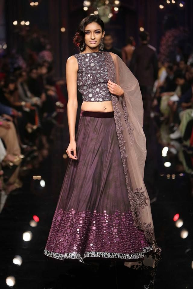 Manish Malhotra Lakme Fashion Week 2014-All of the design are gorgeous, but this one is my favorite. I love how shiny it is!