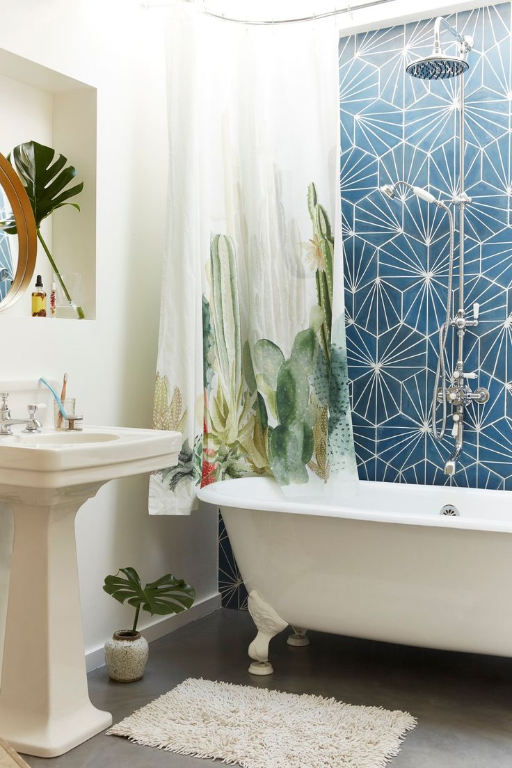 shop cactus landscape shower curtain at urban outfitters today