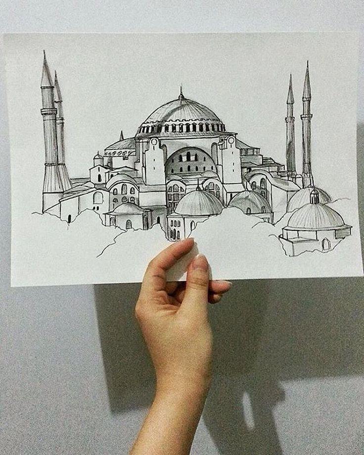 archisketcher Hagia Sophia by @kim.sh_official #ArchiSketcher - Instagram
