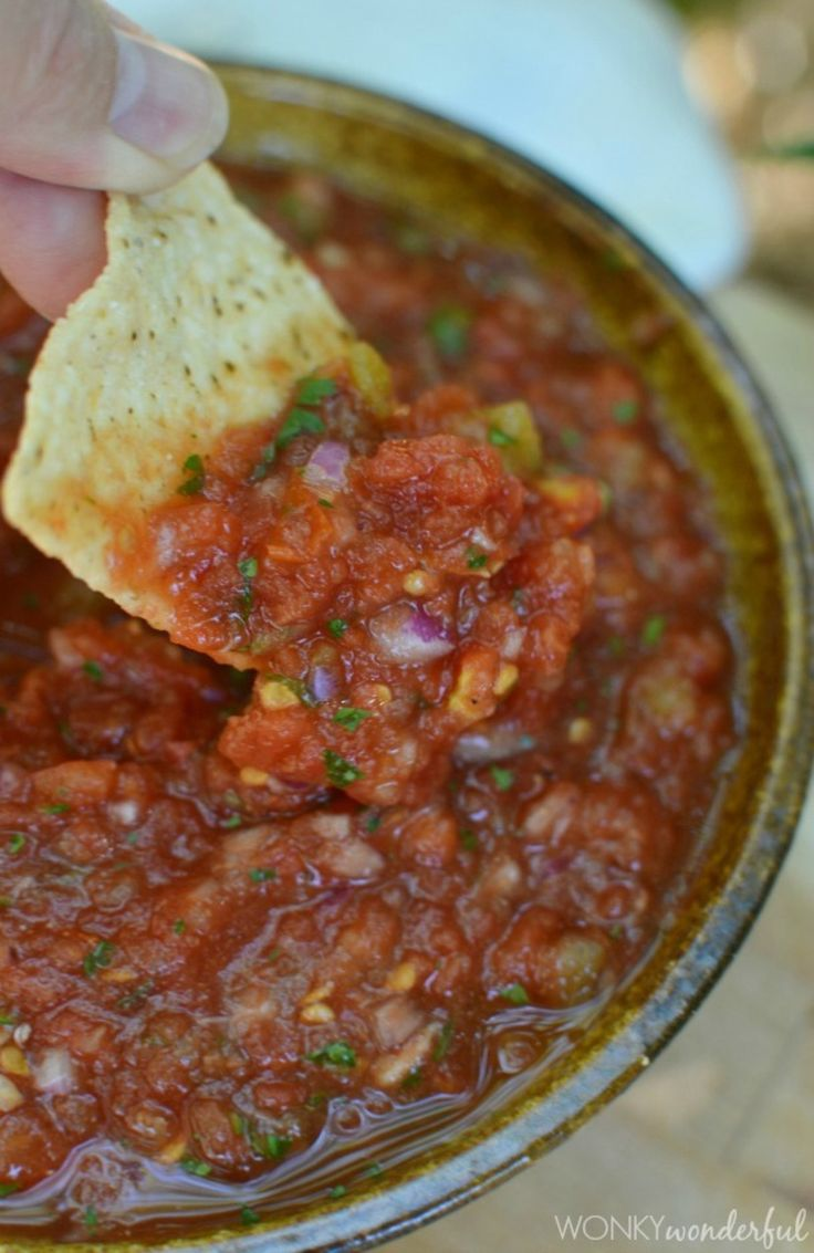 Salsa recipe, Restaurant style salsa and Salsa on Pinterest