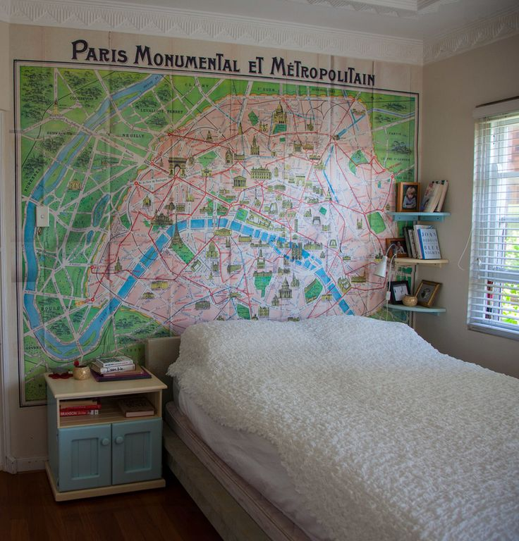 17 best images about maps used in interior design decor for Paris wallpaper for bedroom
