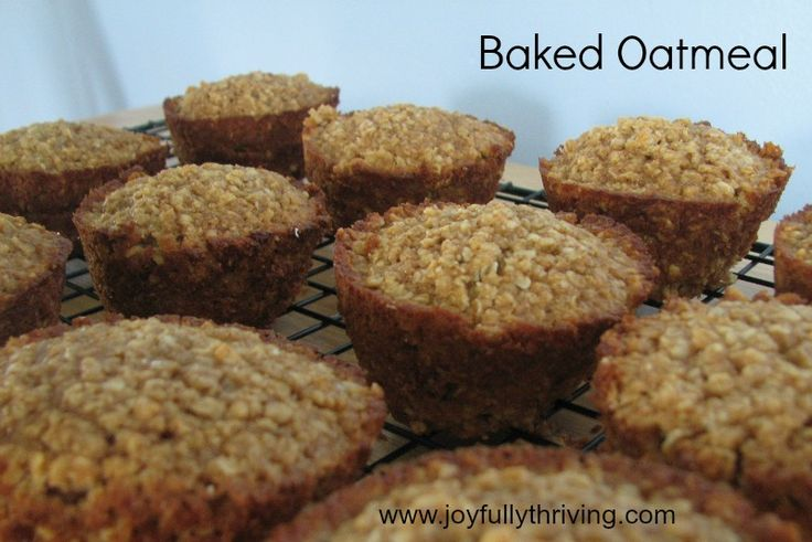 My favorite recipe for Baked Oatmeal - Works great in a pan or individual cups. Freezes well, too!