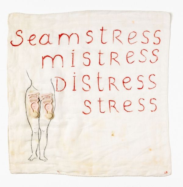 Louise Bourgeois - Seamstress/Mistress/Distress/Stress, 1995 - Cotton, plastique, brodé, cousu