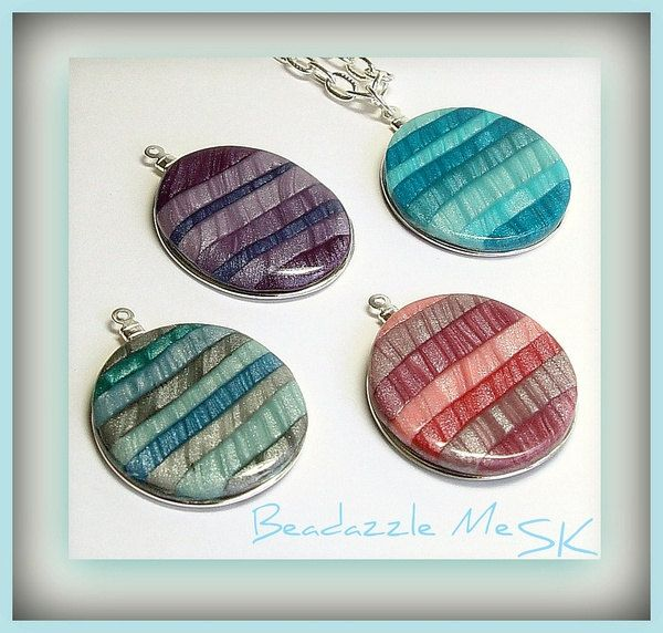 made using my Tutorial  How to Create Polymer Clay Mica Shift Pendants PDF Lesson.