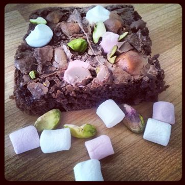 Tiggys Brownie Co - Rocky Road brownies with pistachio, mini mallows and milk chocolate chips