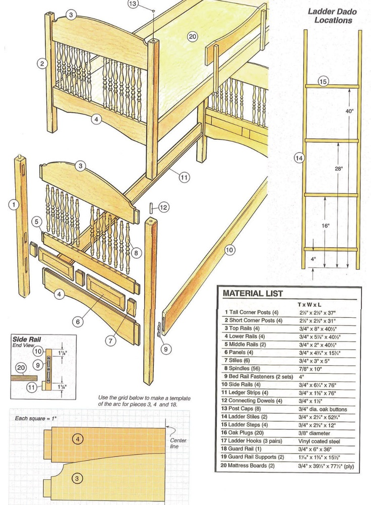43 best free bunk bed plans images on pinterest bunk bed for Pics of plans