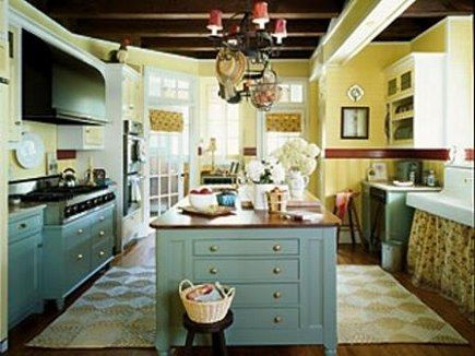 Yellow And Blue Kitchen Ideas Calculated Cottage Charm