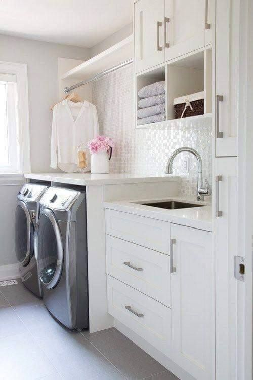 For Laundry Room Design Need To Have A Plan, In Which Is Not Included Only  Equipment And A Washing Machine But Also Include Stylish Furniture Part 60