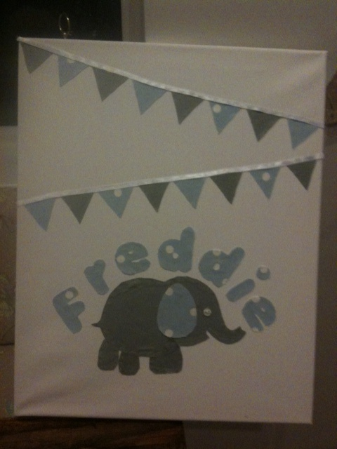 Another bit of wall art for a baby boy - Freddie!
