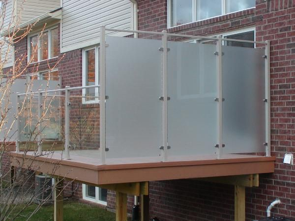 using frosted glass panels on fence discussion - Google Search
