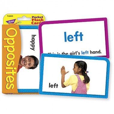 Opposites Pocket Flash Cards