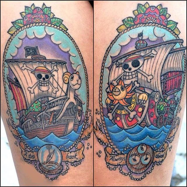 Merry Go and Sunny Go One Piece tattoo by Ester Mazzucchelli