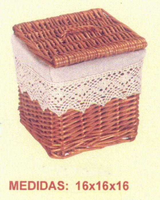 Comprar Cesta miel puntilla con tapa en CesteriaGretel.Com 11€