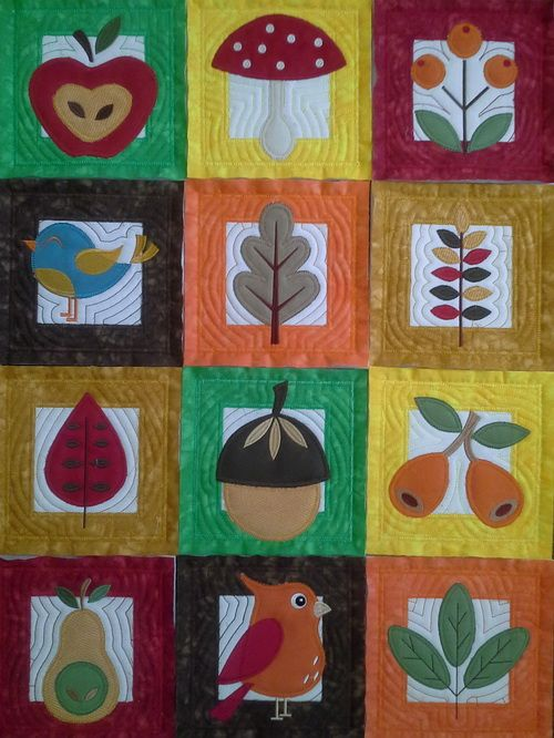 TS1389 - Quilt As You Go Applique Fall Blocks  #threadsnscissors #embroidery #machineembroidery #quilt #quiltblocks #blocks #applique #fall