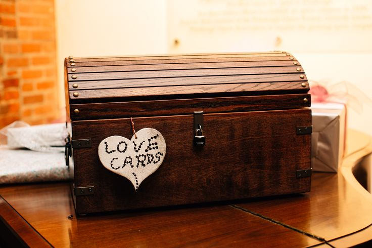 Handmade card box from the father of the bride