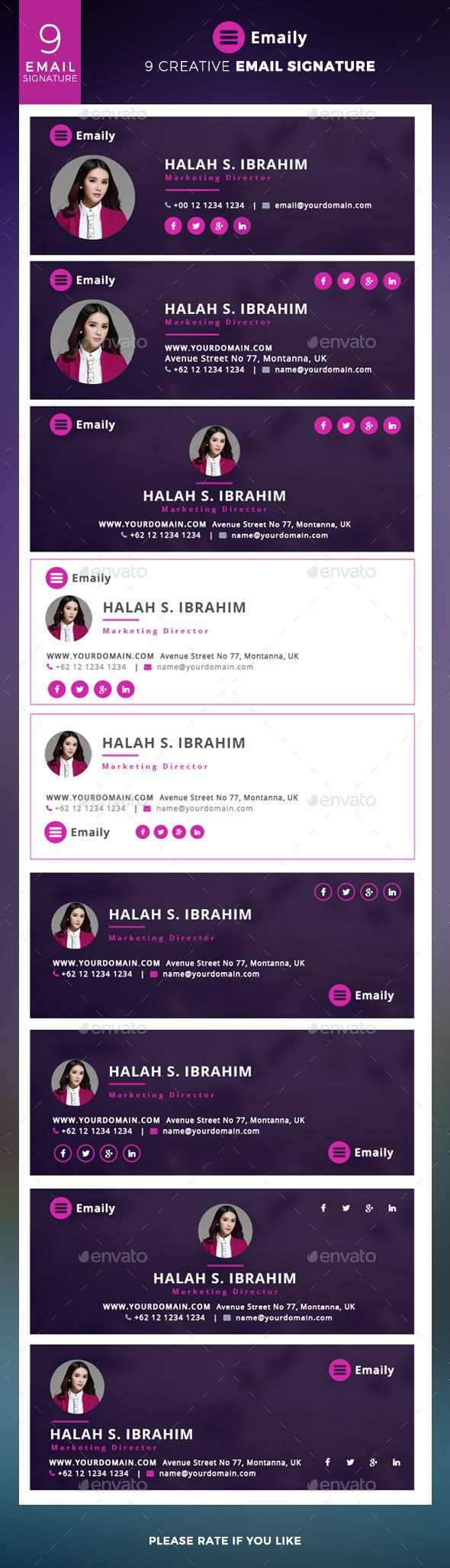 Emaily - Creative Email Signature - Miscellaneous Web Elements