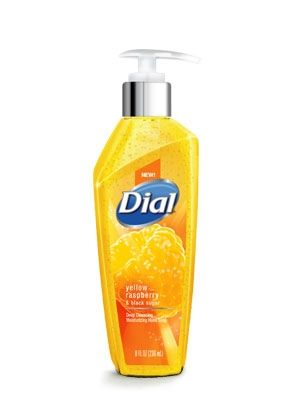 Dial Deep Cleansing Yellow Raspberry & Black Sugar Liquid Hand Soap | Invigorate your hands with this premium micro-scrubbing soap. It gently cleans as it moisturizes and refreshes, with the vibrant scent of yellow raspberries and black sugar.