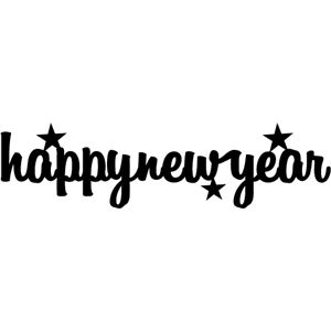 Silhouette Design Store: happy new year title