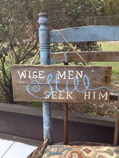Christmas Quotes Religious, Diy Signs Blocks, But, Religous Signs, Christmas Religious Quotes, Wise, Religious Christmas Crafts, Christmas Gifts