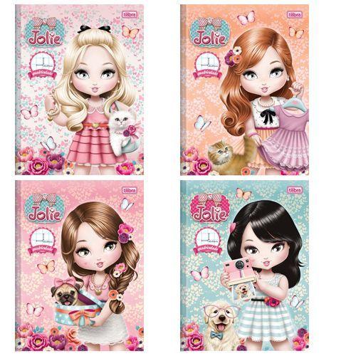 Caderno Quadriculado Capa Dura Brochura Jolie 40fls Tilibra com 10 cadernos 43890 | Papelaria Real