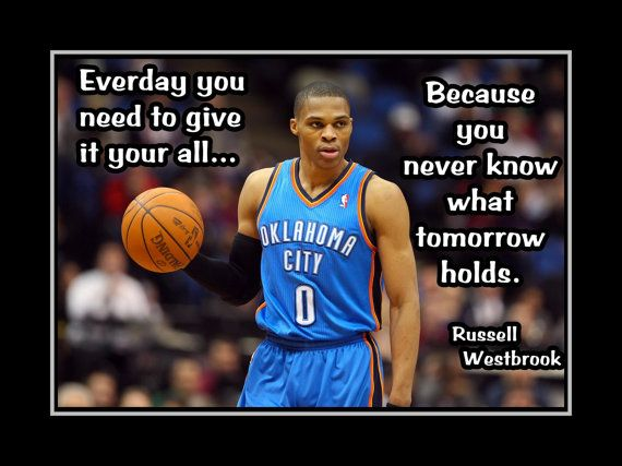 Basketball Motivation Poster Russell Westbrook by ArleyArt on Etsy