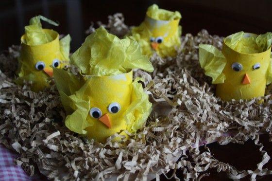 toilet roll easter chicks - happy hooligans - easter crafts for kids