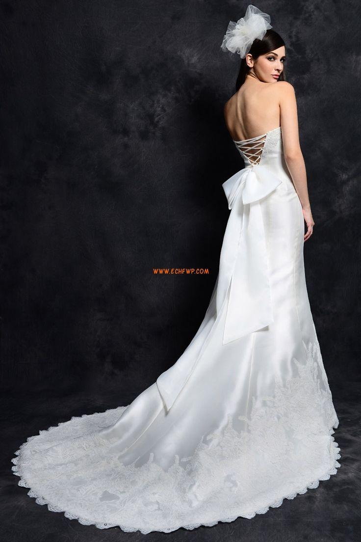 Jaro Bez rukávů Nášivky Levné svatební šaty