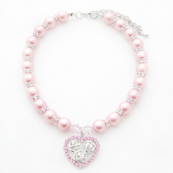 Handmade Small Dog Accessories Czech Diamond Pearl Pendant Necklace Dog Necklace, Grooming Dogs. US $5.98