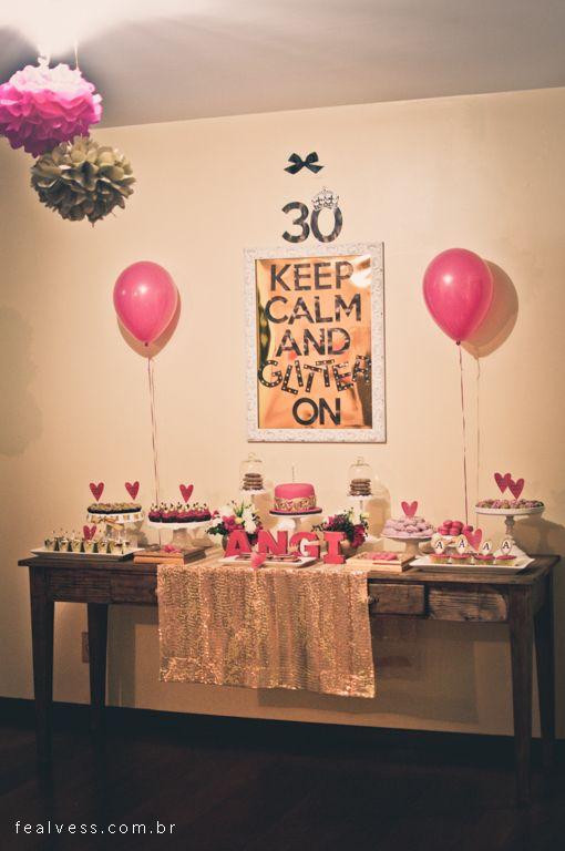 festa 30 anos - em casa