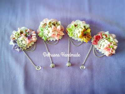 Lovely handmade accessories - sweet brooches - lace brooch