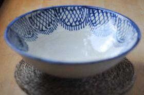 Giant Blue Bowl from Alhambra Tiles