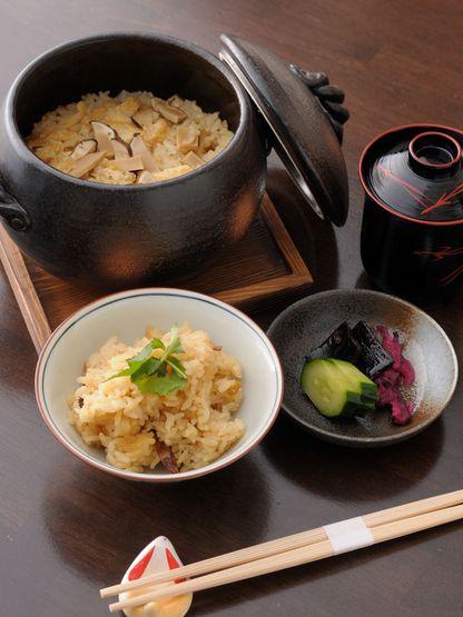 Japanese food / 松茸ごはん(matsutake gohan)