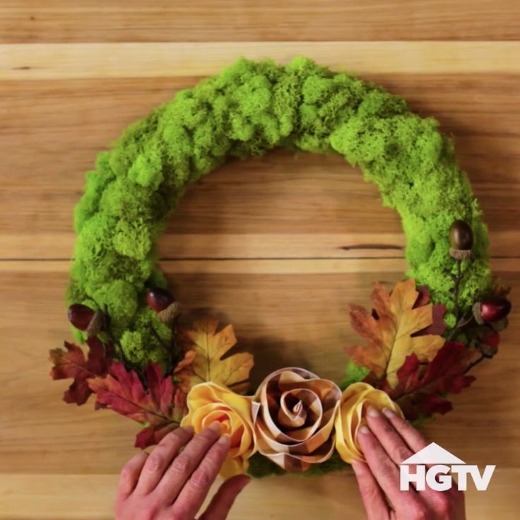 DIY Ribbon Rose Wreath for Fall