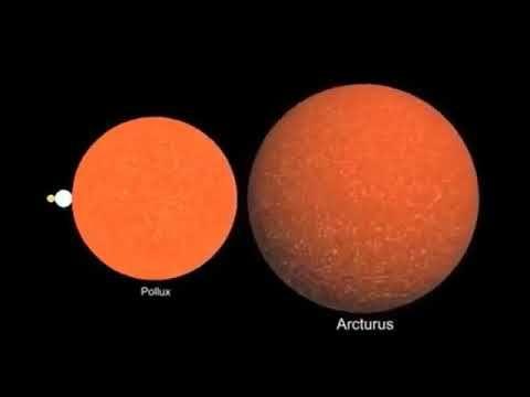 Comparación del Tamaño de Los Planetas y Estrellas