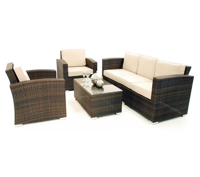 Rattan garden furniture stacking sofa set in black home for 9 seater sofa set designs