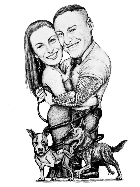Check out this item in my Etsy shop https://www.etsy.com/listing/246108368/caricature-bw