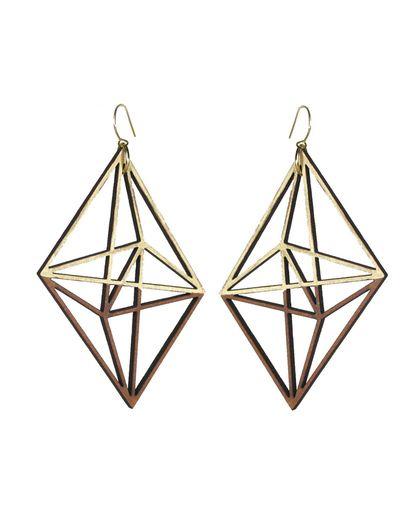 Twine Gold Himmeli Dangle Earrings