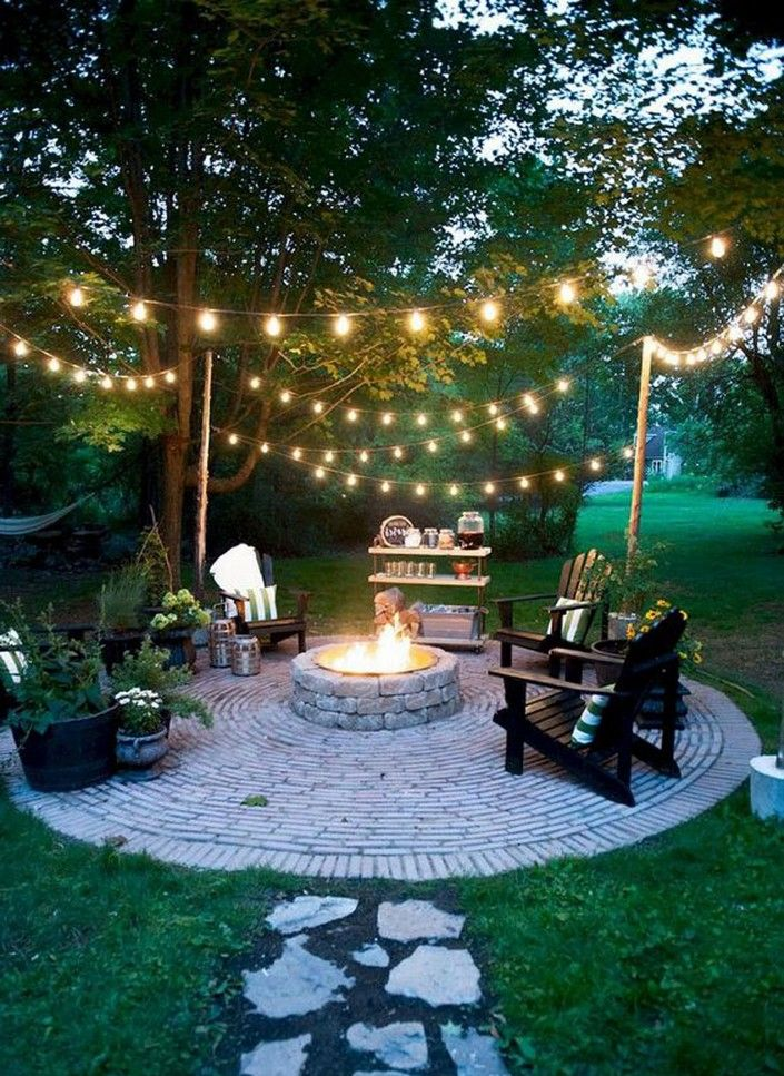 20 Lovely Backyard Inspiration 17 Backyard Fire Fire Pit Backyard Backyard Decor