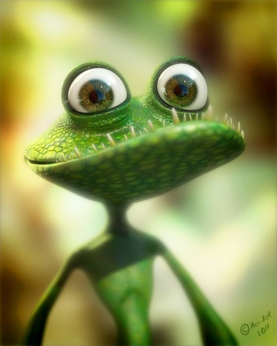 Frog-lizard Picture  (3d, cartoon, lizard, frog) ★ Find more at http://www.pinterest.com/competing