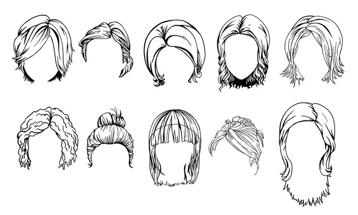 Hairstyle Sketches: Http://www.tooncharacters.com