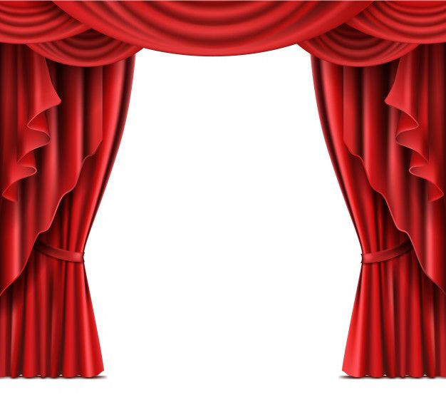 Download Theater Stage Red Curtains Realistic Vector For Free Stage Curtains Theatre Curtains Curtains
