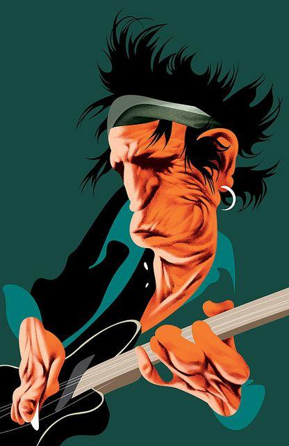 Keith Richards by Andre Carrilho - www.remix-numerisation.fr - Rendez vos souvenirs durables ! - Sauvegarde - Transfert - Copie - Digitalisation - Restauration de bande magnétique Audio - MiniDisc - Cassette Audio et Cassette VHS - VHSC - SVHSC - Video8 - Hi8 - Digital8 - MiniDv - Laserdisc