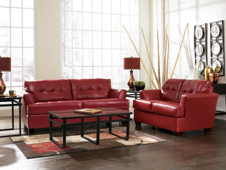 Durablend Scarlet Sofa & Loveseat #sofa #loveseat #livingroom ...