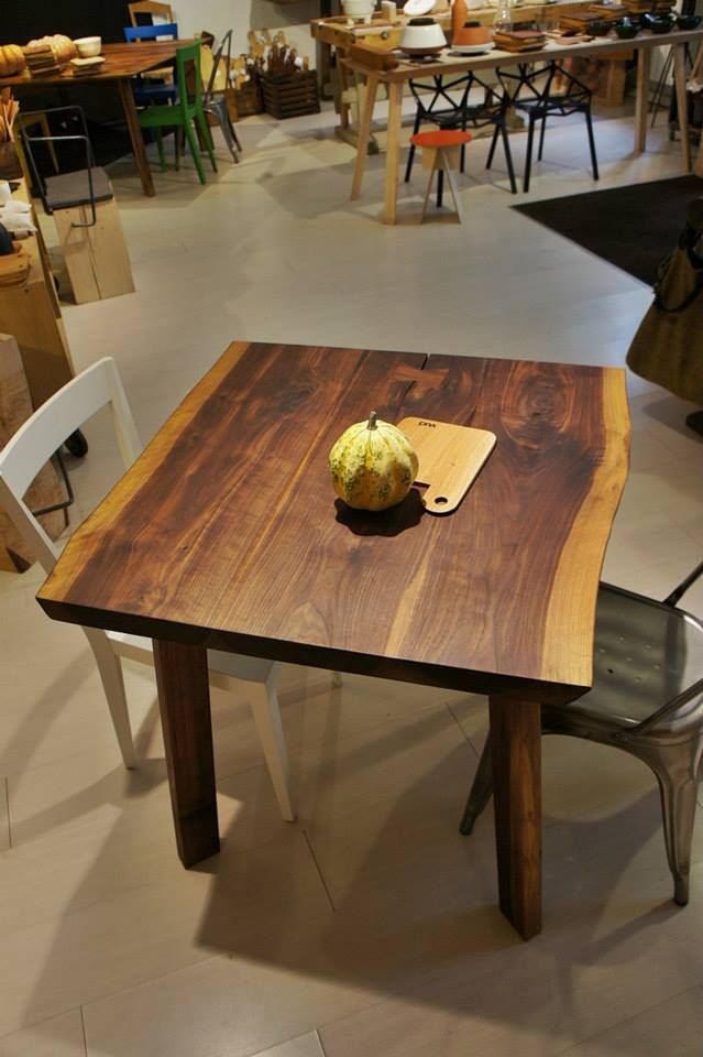 American walnut, natural edges