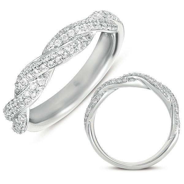 Infinity Wedding Band EN7350,.49cts of natural diamonds, $1,431.00 (http://www.manmadelabdiamonds.com/matching-band-for-en7350-en7350-bwg/) #manmadelabdiamonds #weddingband