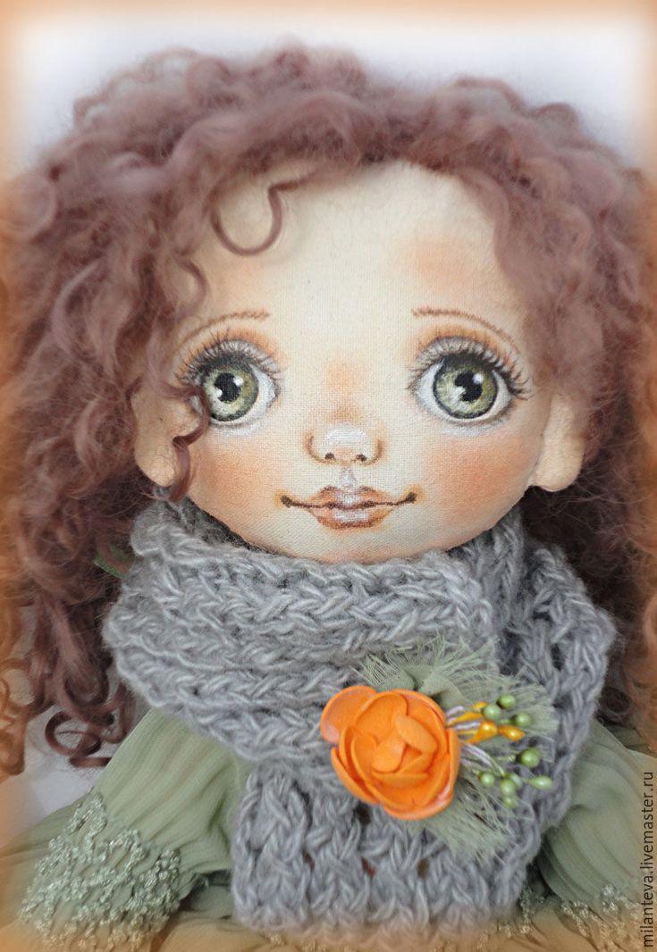 Купить Лика.Кукла текстильная. - зеленый, кукла ручной работы, кукла, кукла в подарок
