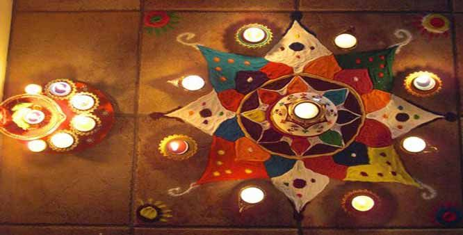 simple rangoli design for diwali pics