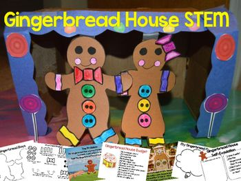Gingerbread Man STEM challenge is perfect for Christmas or to accompany The Gingerbread Man unit.  Students will create their own Gingerbread Boy or Gingerbread Girl craft.  They must then solve the presented problem:The Gingerbread Man is being chased.