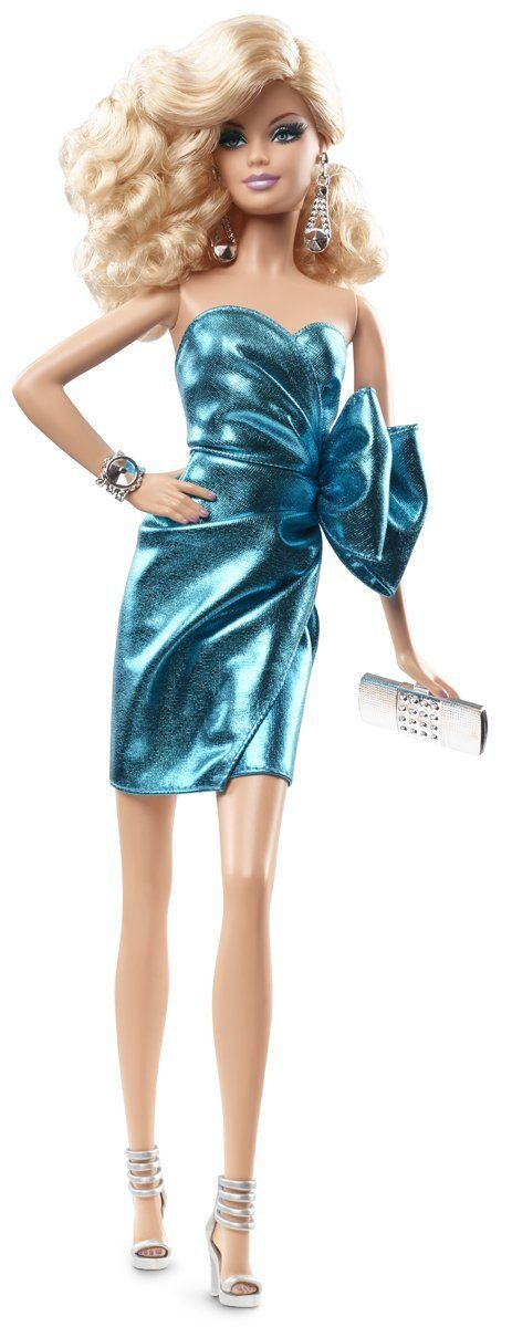Amazon.com: Barbie: The Look City Shine Blonde Doll: Toys & Games